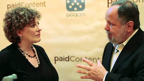 """Staci D. Kramer (shown with Larry Kramer, president of USA Today): """"It's one thing to have a sponsor ... but it's quite another to write about sponsors or advertisers in exchange for money."""""""
