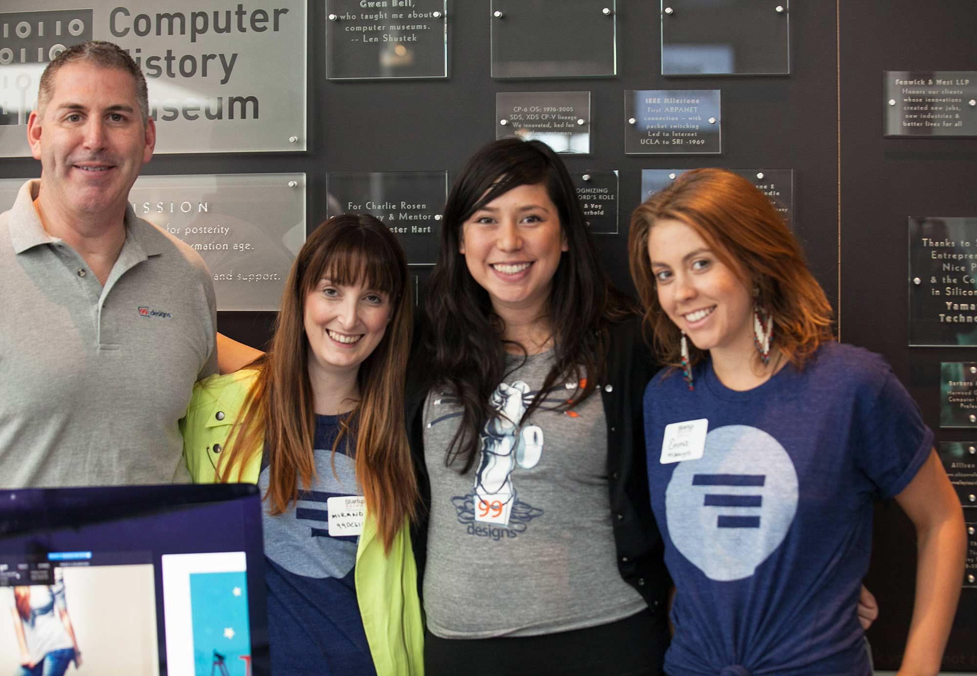 99designs team at Startup Grind 2014