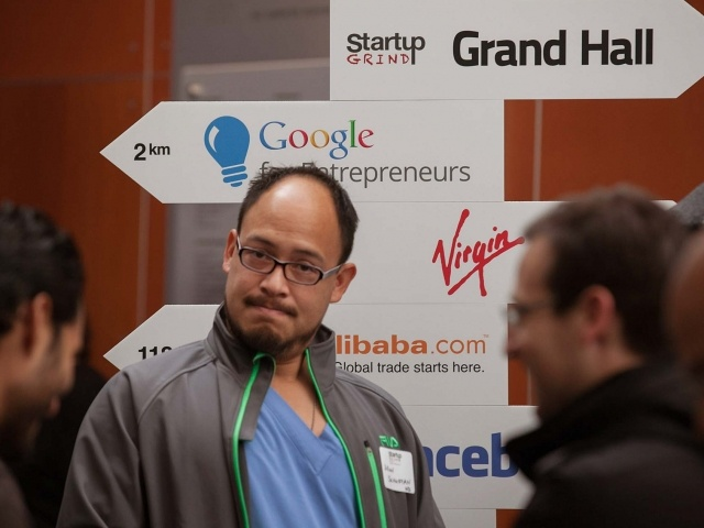 In the demo pit  at Startup Grind 2014