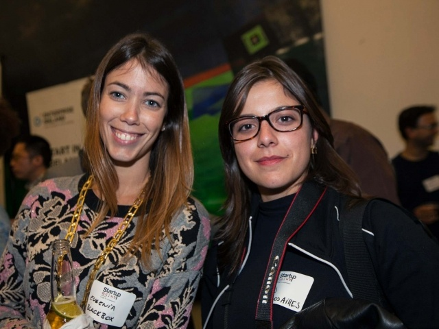 Eugenia of Blackbox & Lais from Buenos Aires at Startup Grind 2014