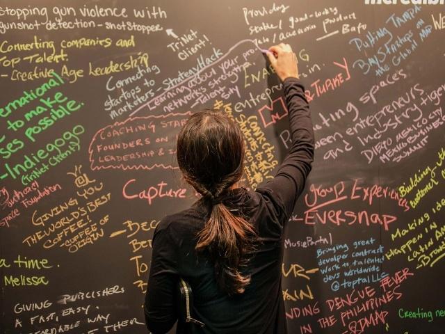 Inspiration board at Startup Grind 2014