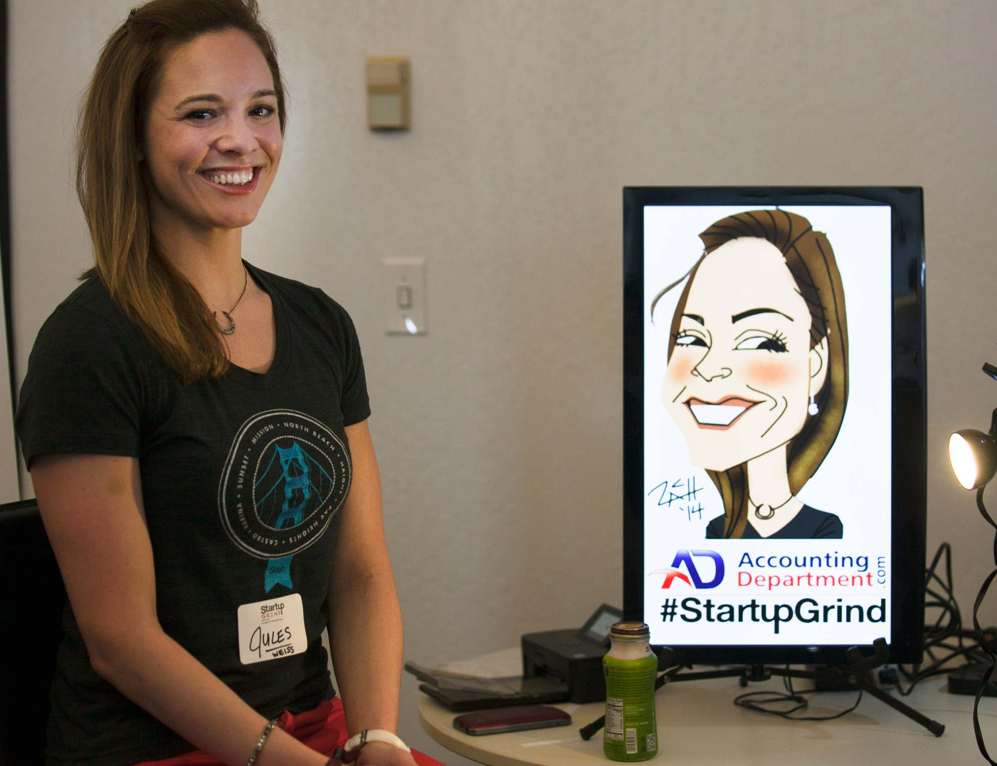 Caricature at Startup Grind 2014
