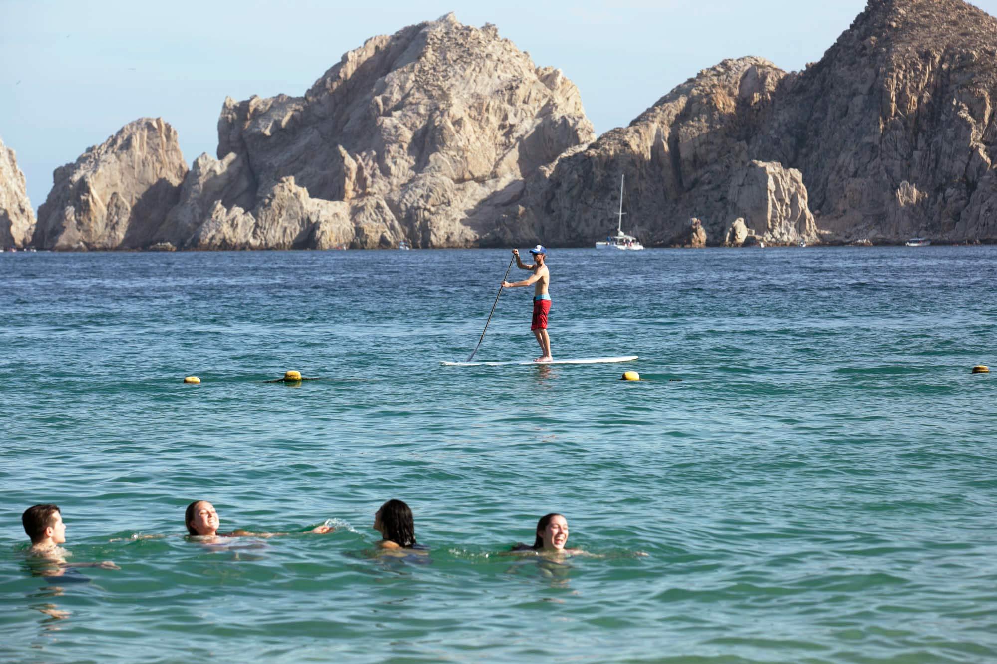 Paddleboarding in Cabo