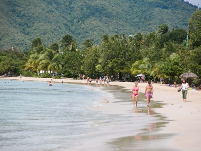 Beach in Le Marin, Martinique