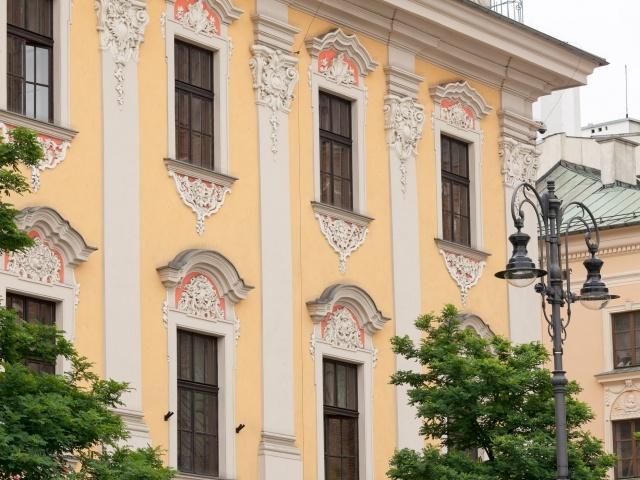 Building on Krakow Main Square