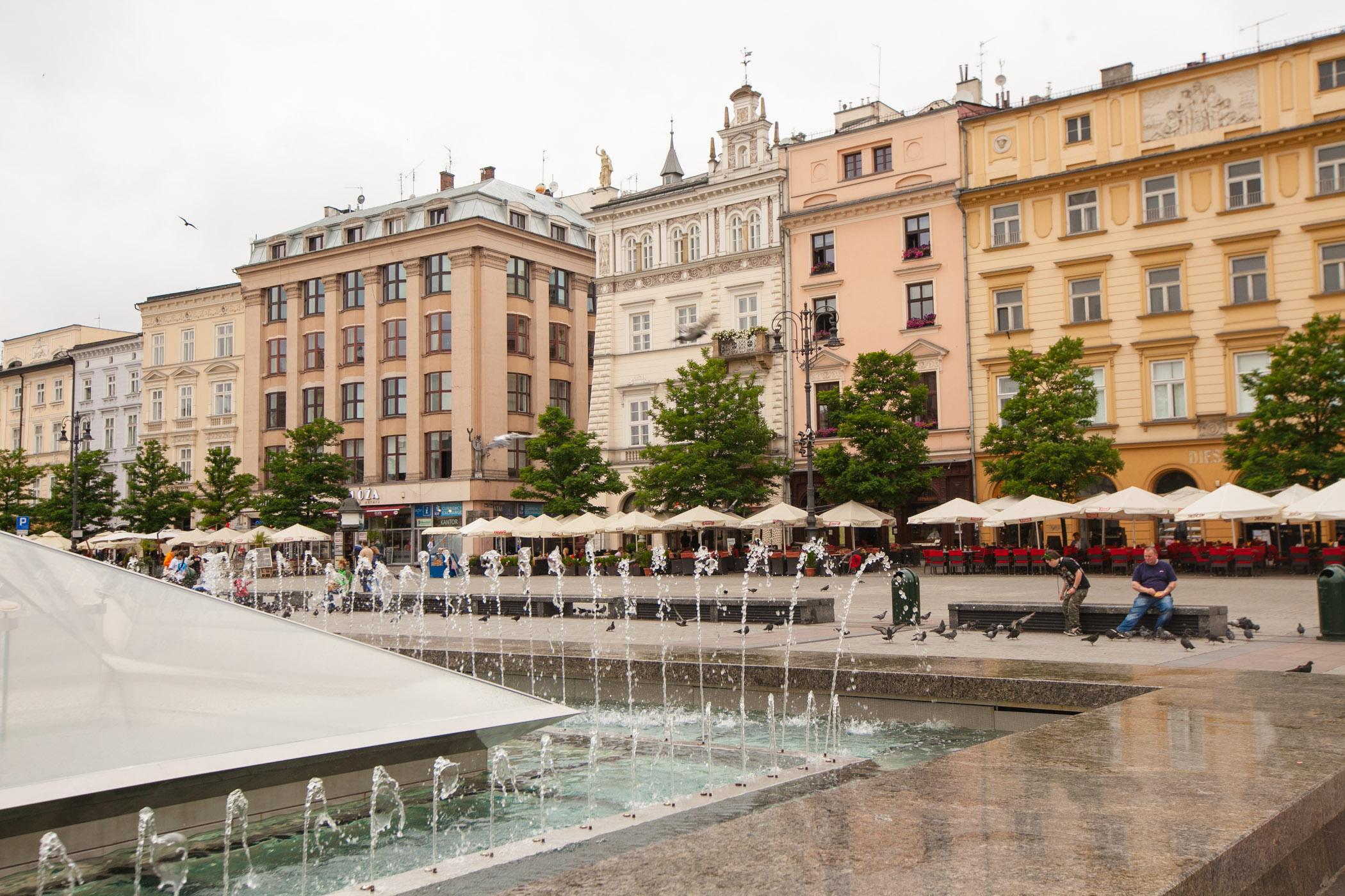 Buildings along Krakow Main Square