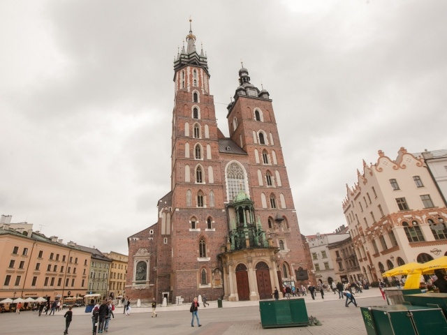 Cathedral in Krakow Main Square