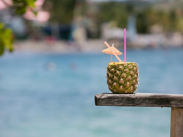 Coconut cocktail during Windstar Island Experience