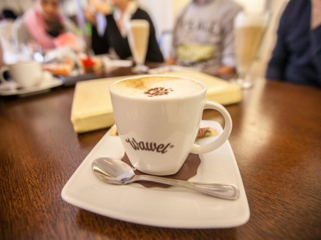 Coffee drink at Wawel Castle