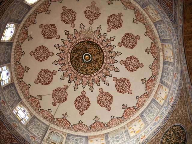 Cupola inside Blue Mosque