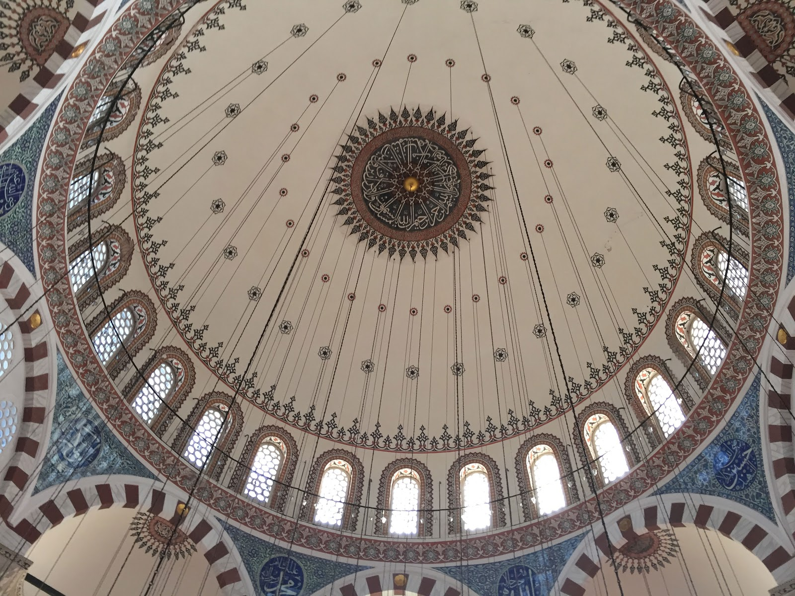 Cupola of Rustem Pasha Mosque in Istanbul