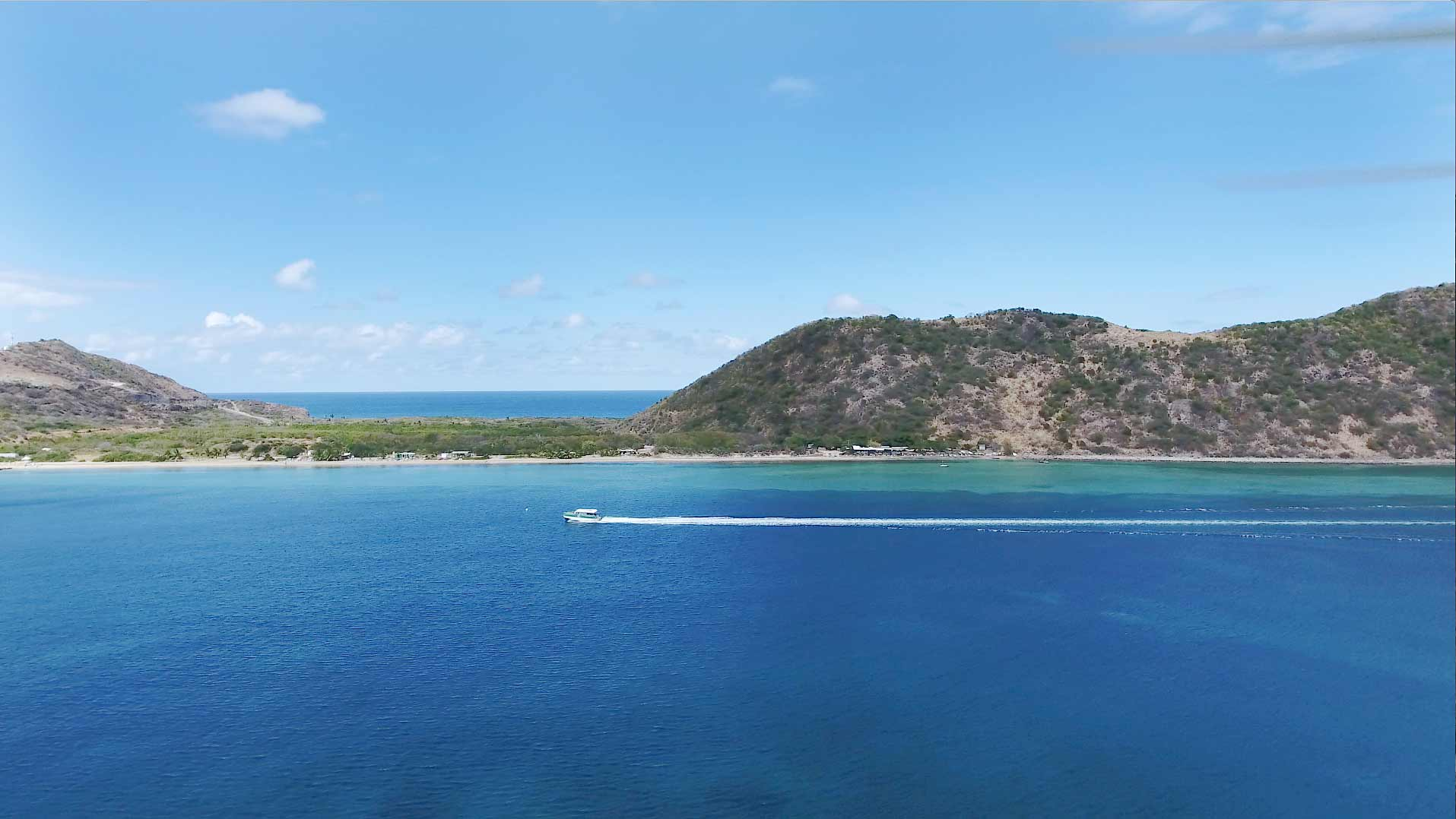 Drone capture of Frigate Bay in St. Kitts