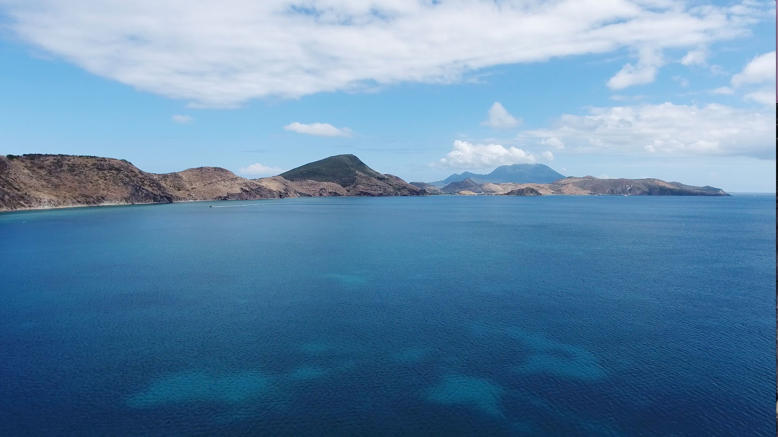 Drone image of Frigate Bay, St. Kitts