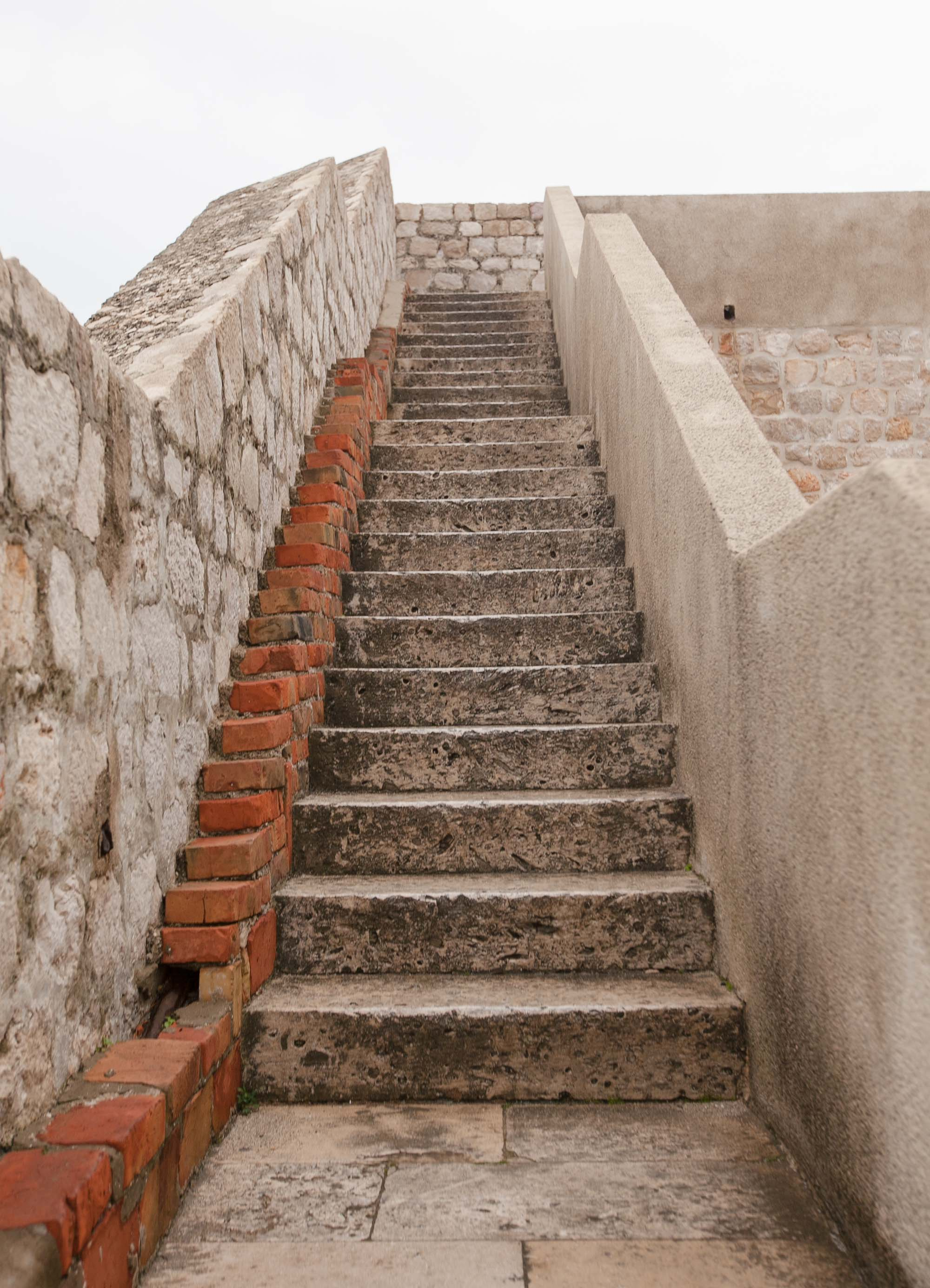 Dubrovnik battlement staircase