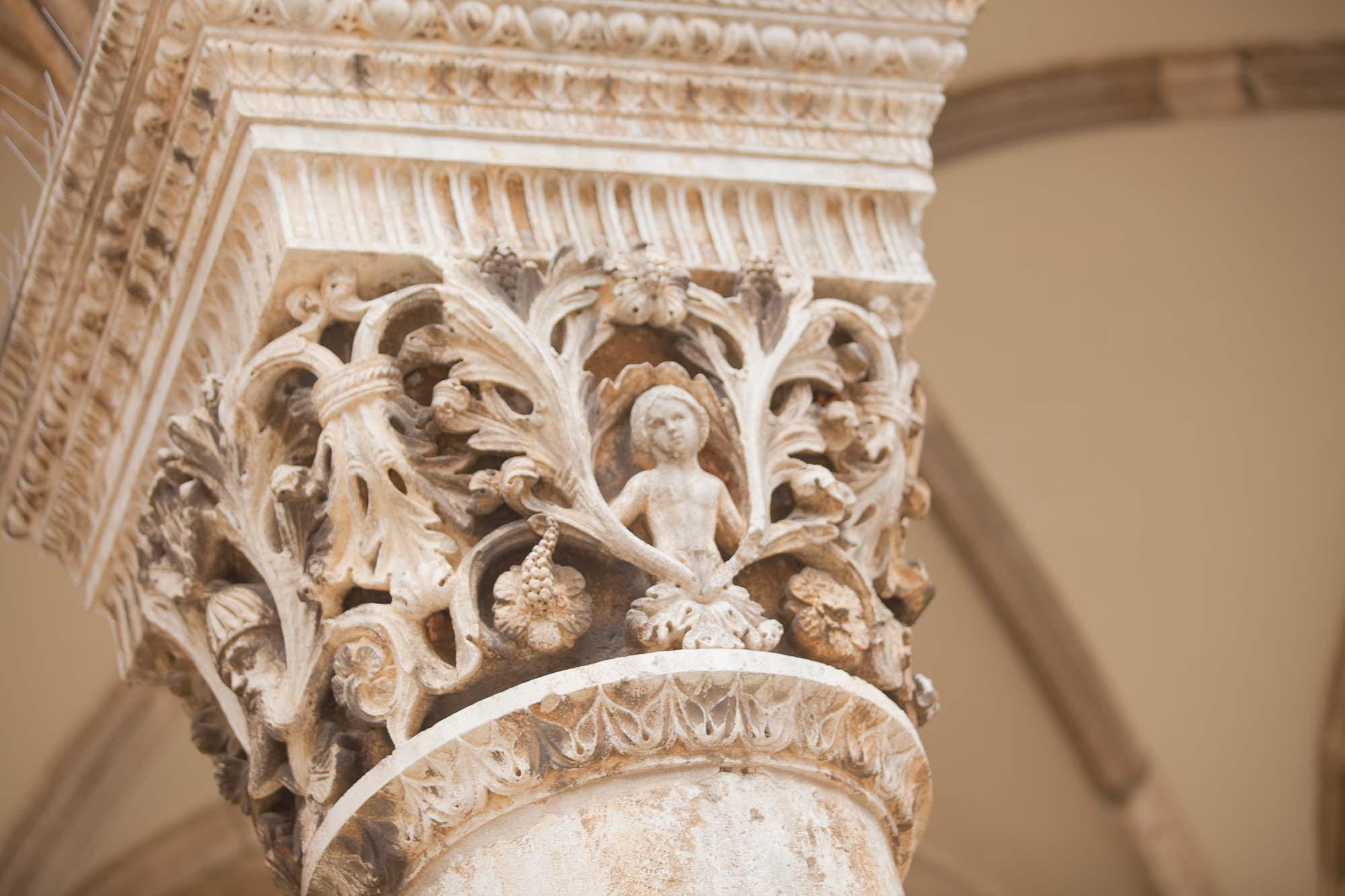 Dubrovnik pillar closeup