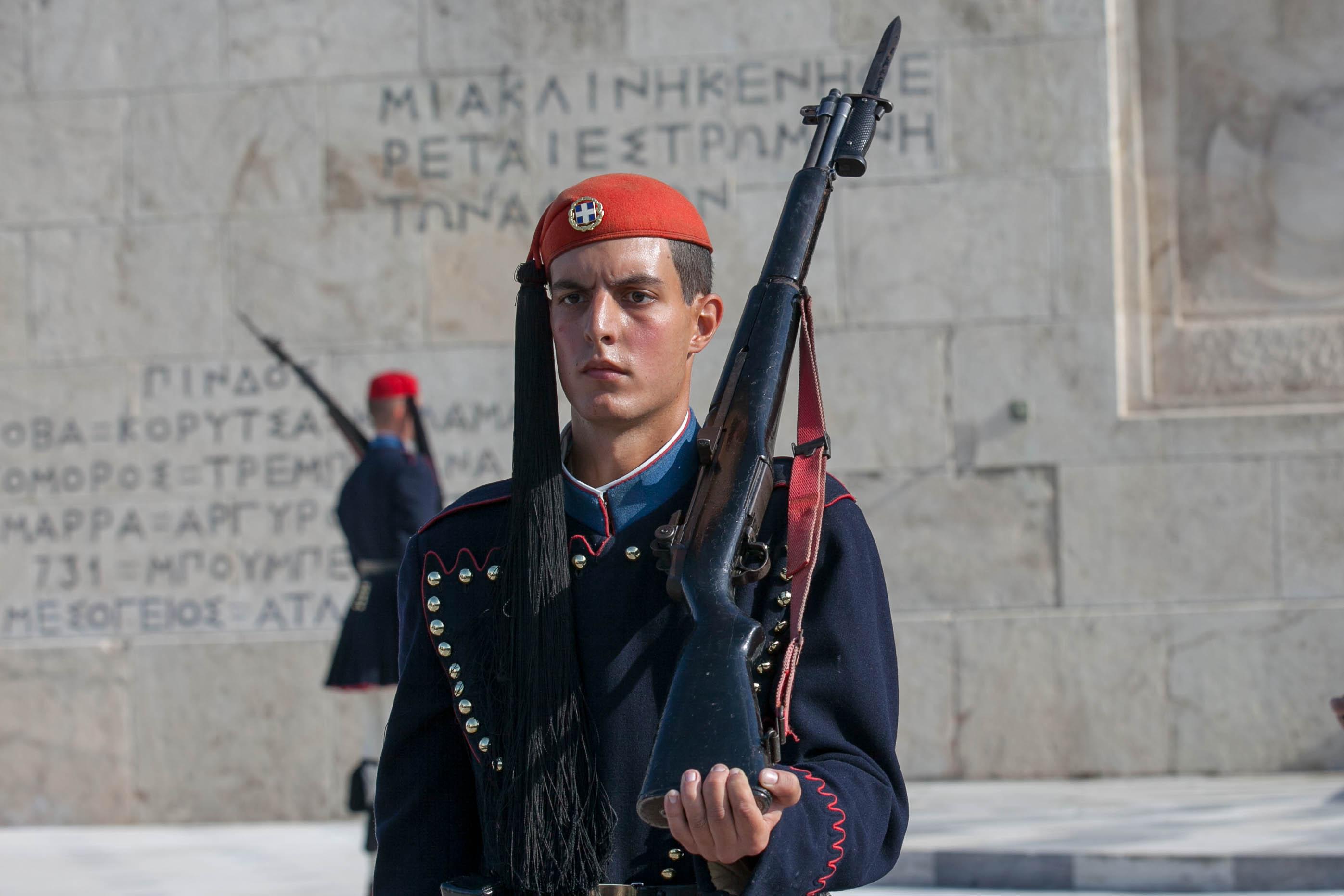 Evzones guard