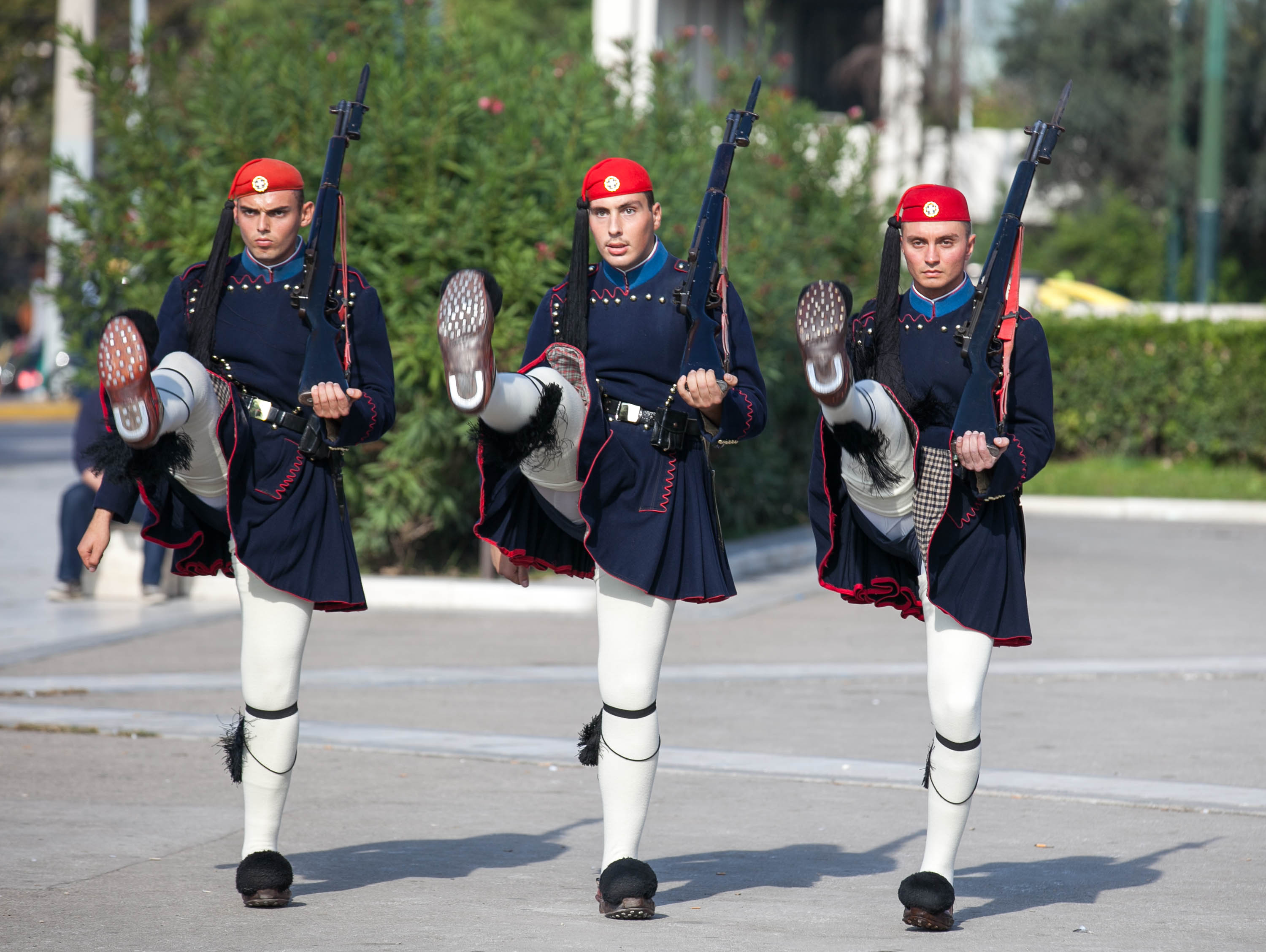 Evzones guards