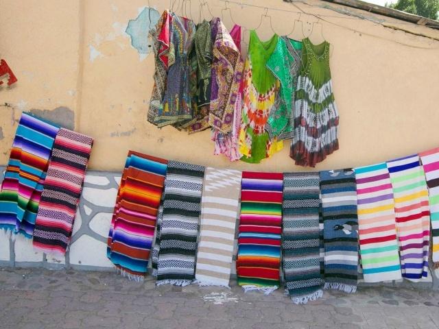 Fabulous tapestries in Loreto, Mexico