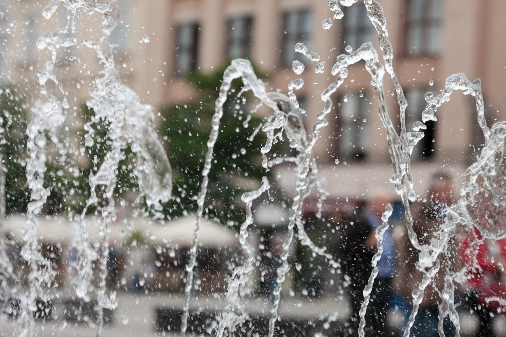 Fountain at Krakow main square