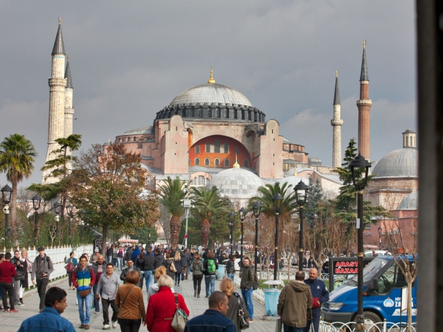 Hagia Sophia seen from Blue Mosque