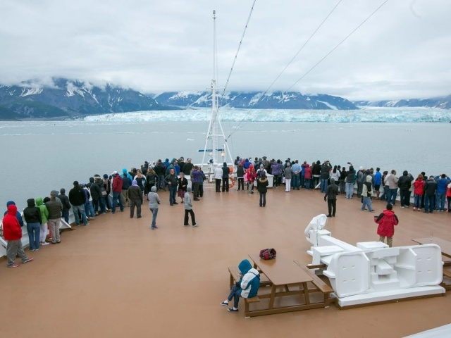 Hubbard Glacier seen from Oosterdam