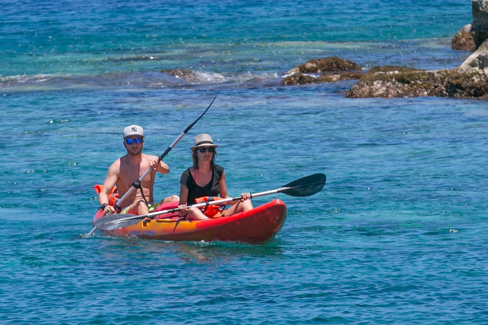 Kayakers in Iles des Saintes, Guadeloupe