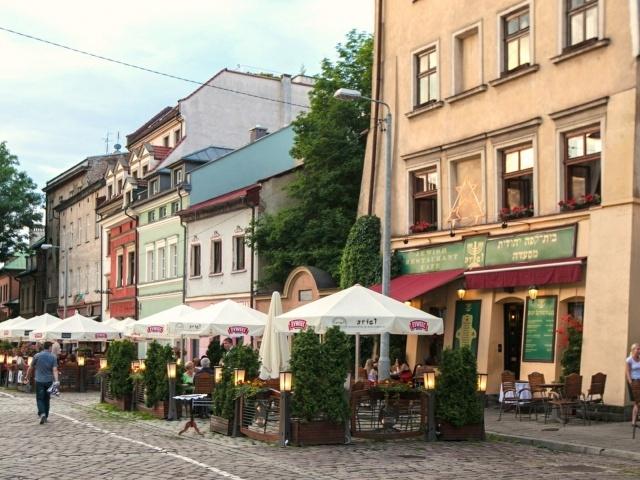 Kazimierz Square at dusk