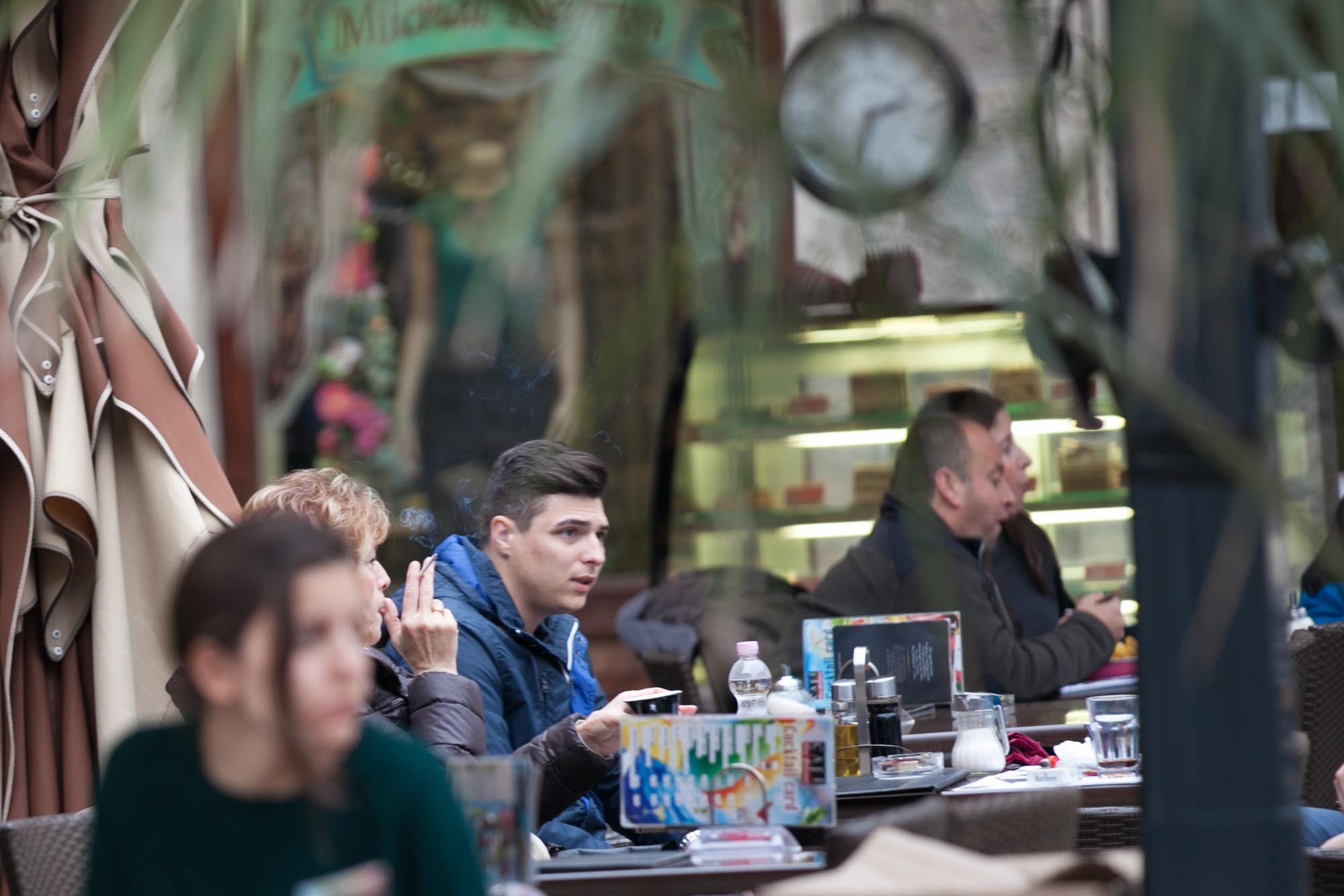 Kotor cafe patrons