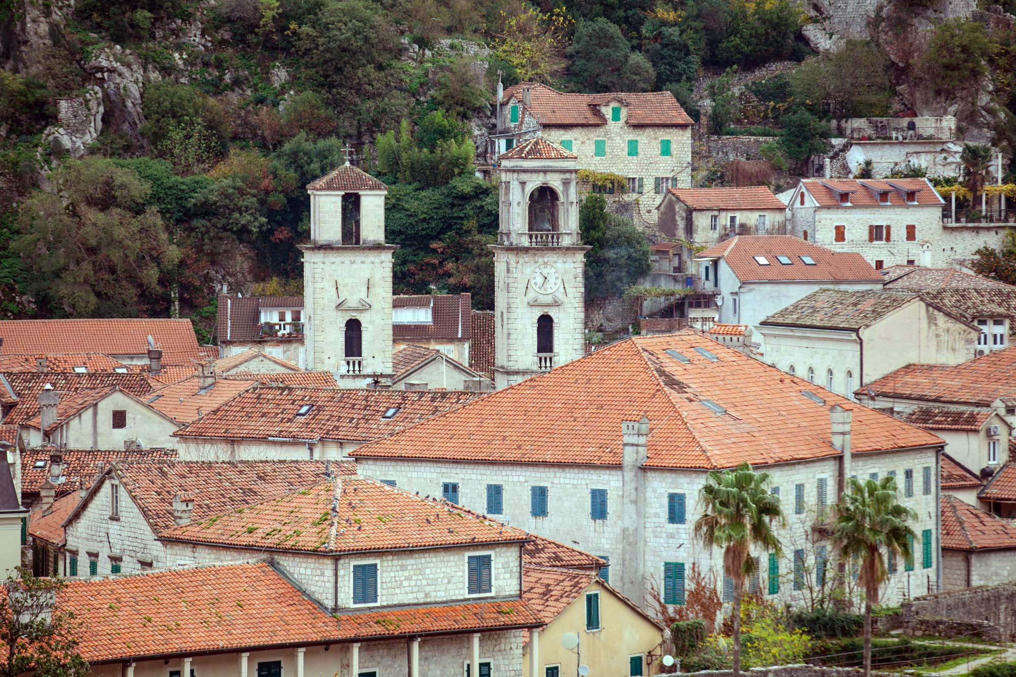 Kotor church steeples
