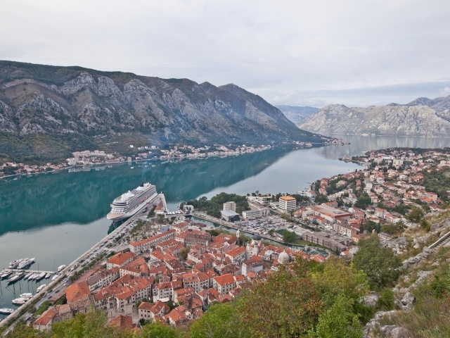 Kotor overlook with Viking Star