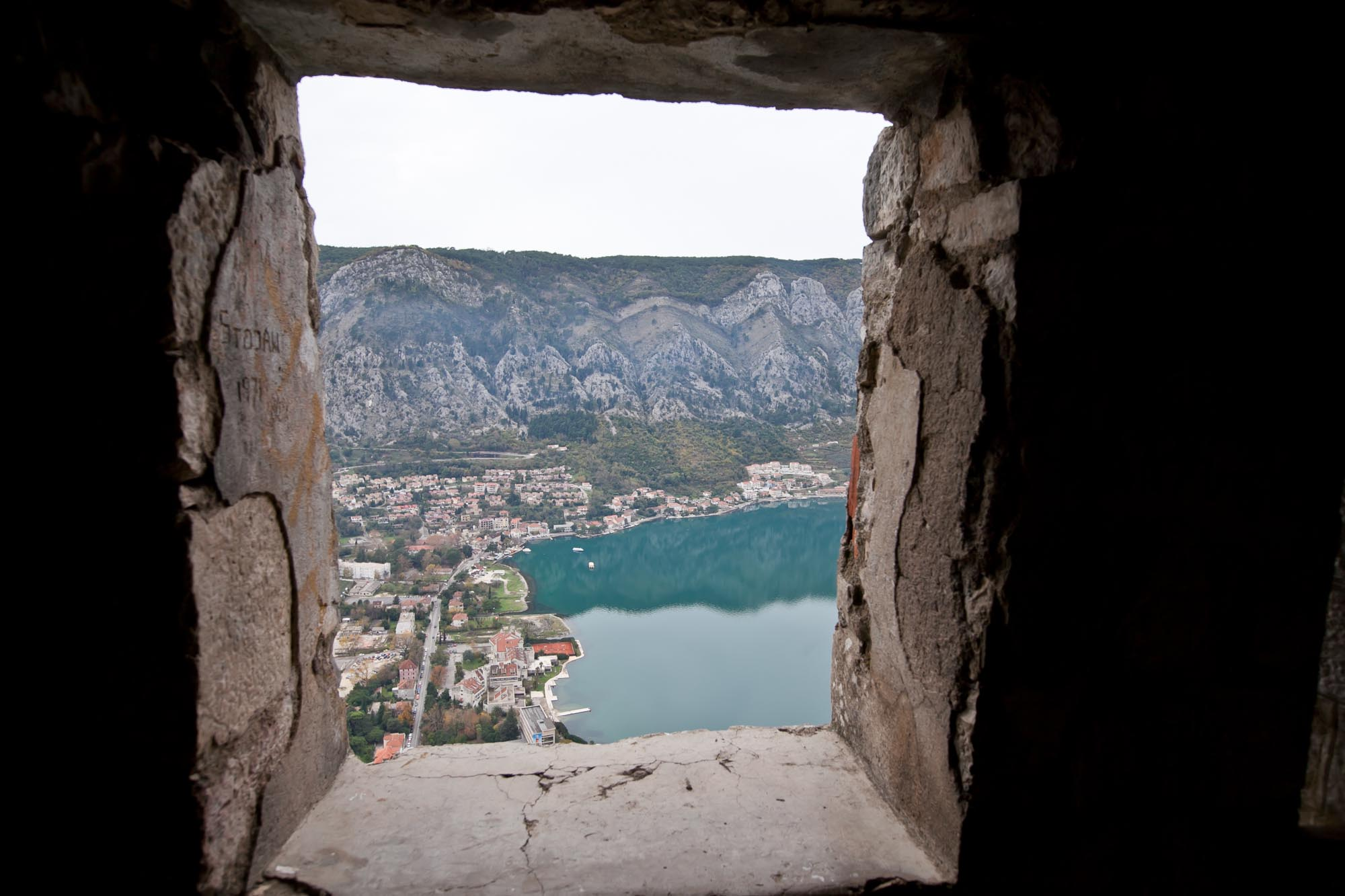 Kotor through window