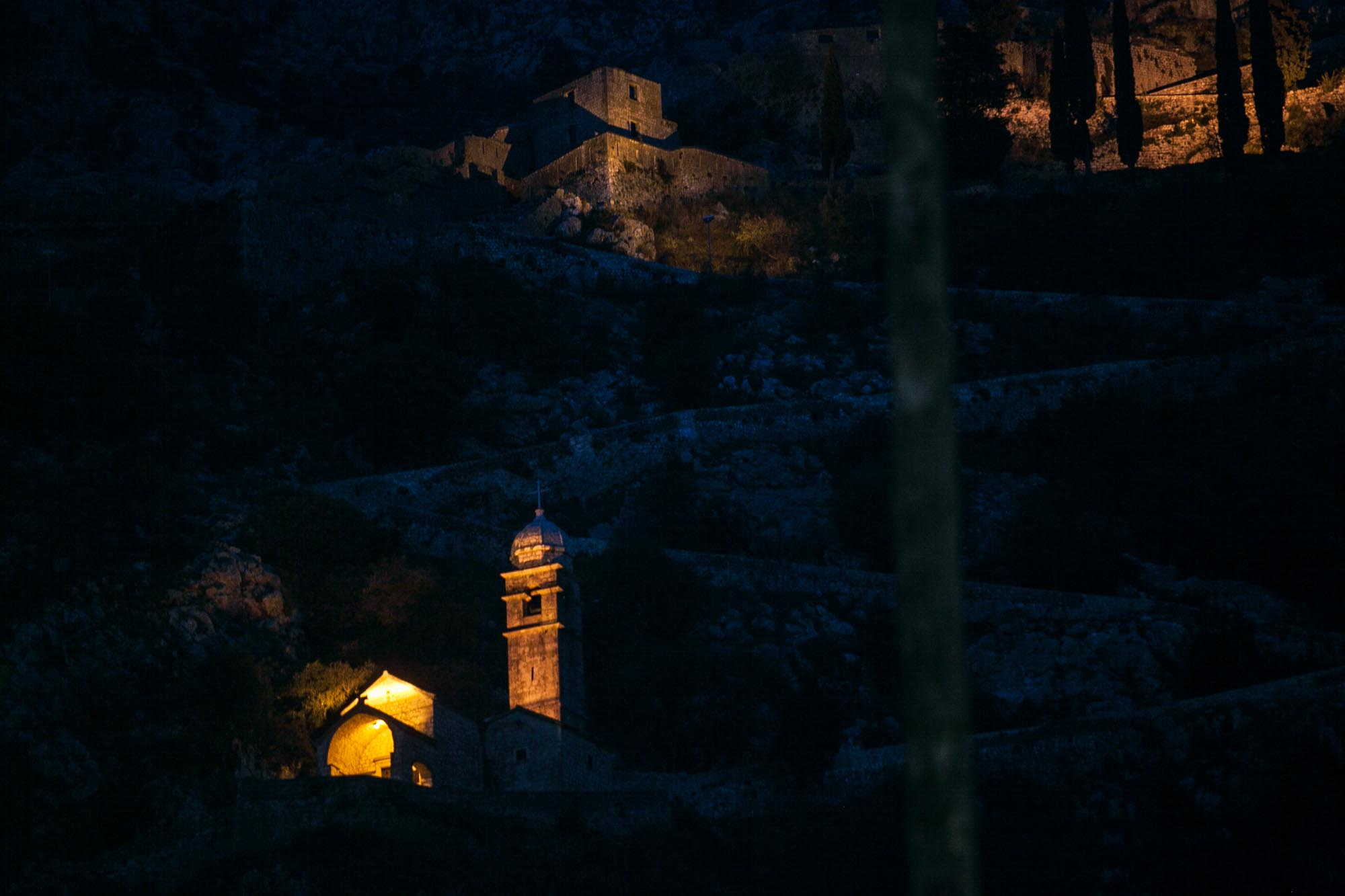 Kotor trail at twilight