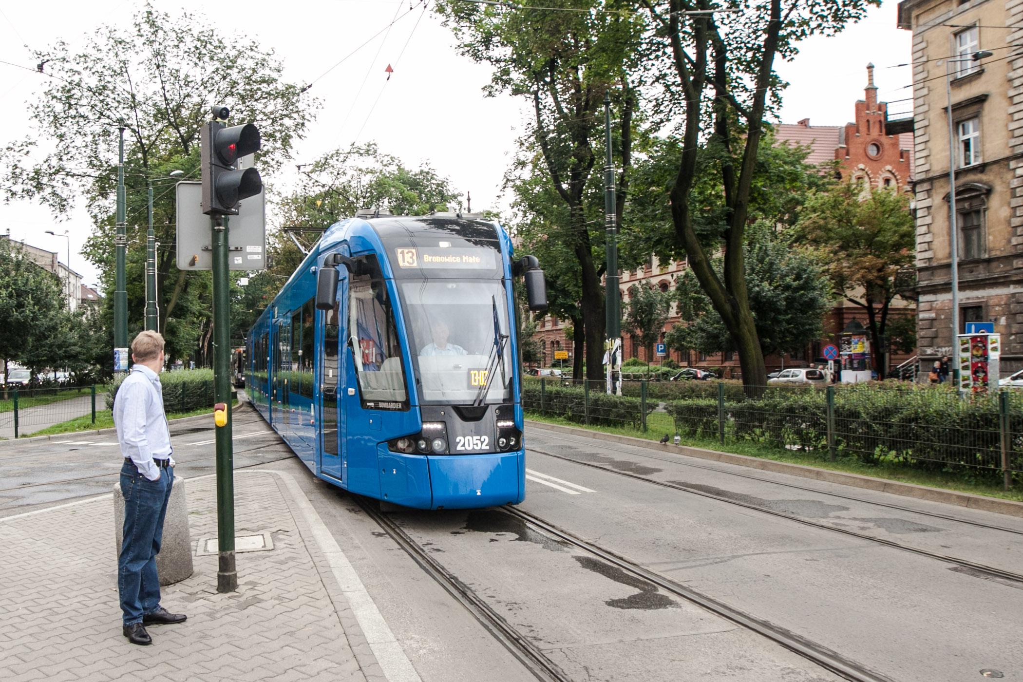 Light rail in Krakow