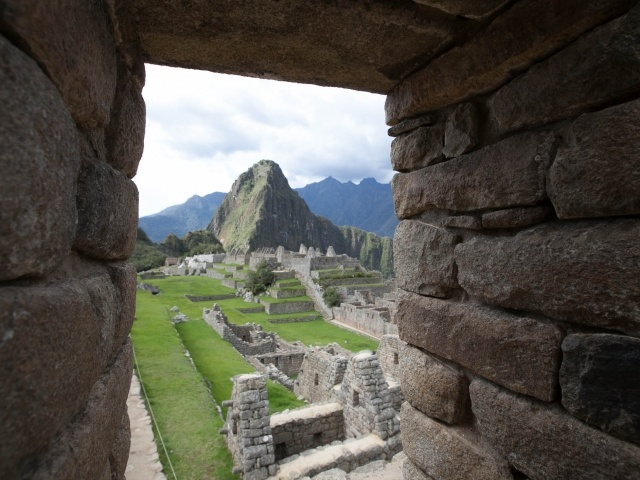 Machu Picchu window view