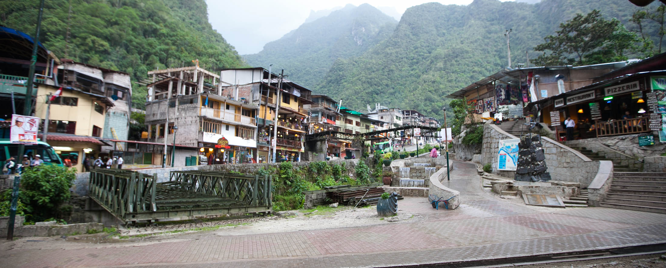 Main street of Aguas Calientes, Peru