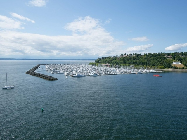 Marina in Seattle's Elliott Bay