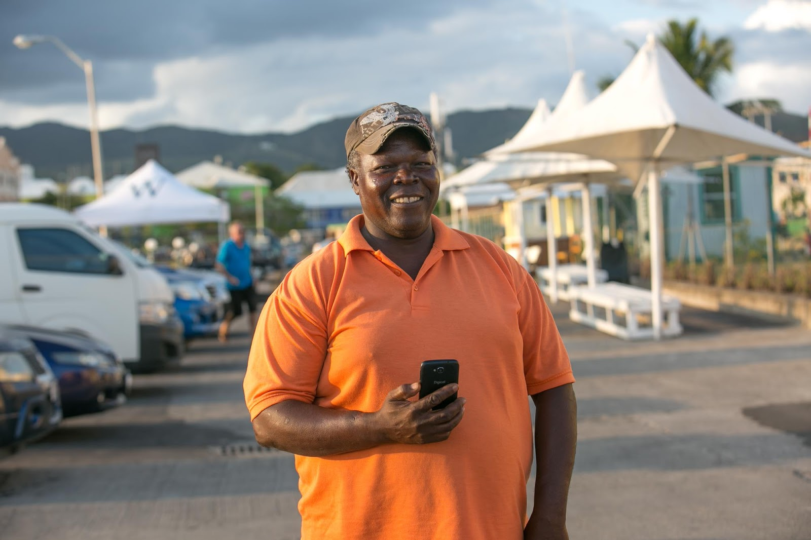 Marvin, our taxi driver in St. Kitts