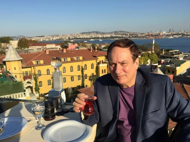 JD having tea in Old Istanbul