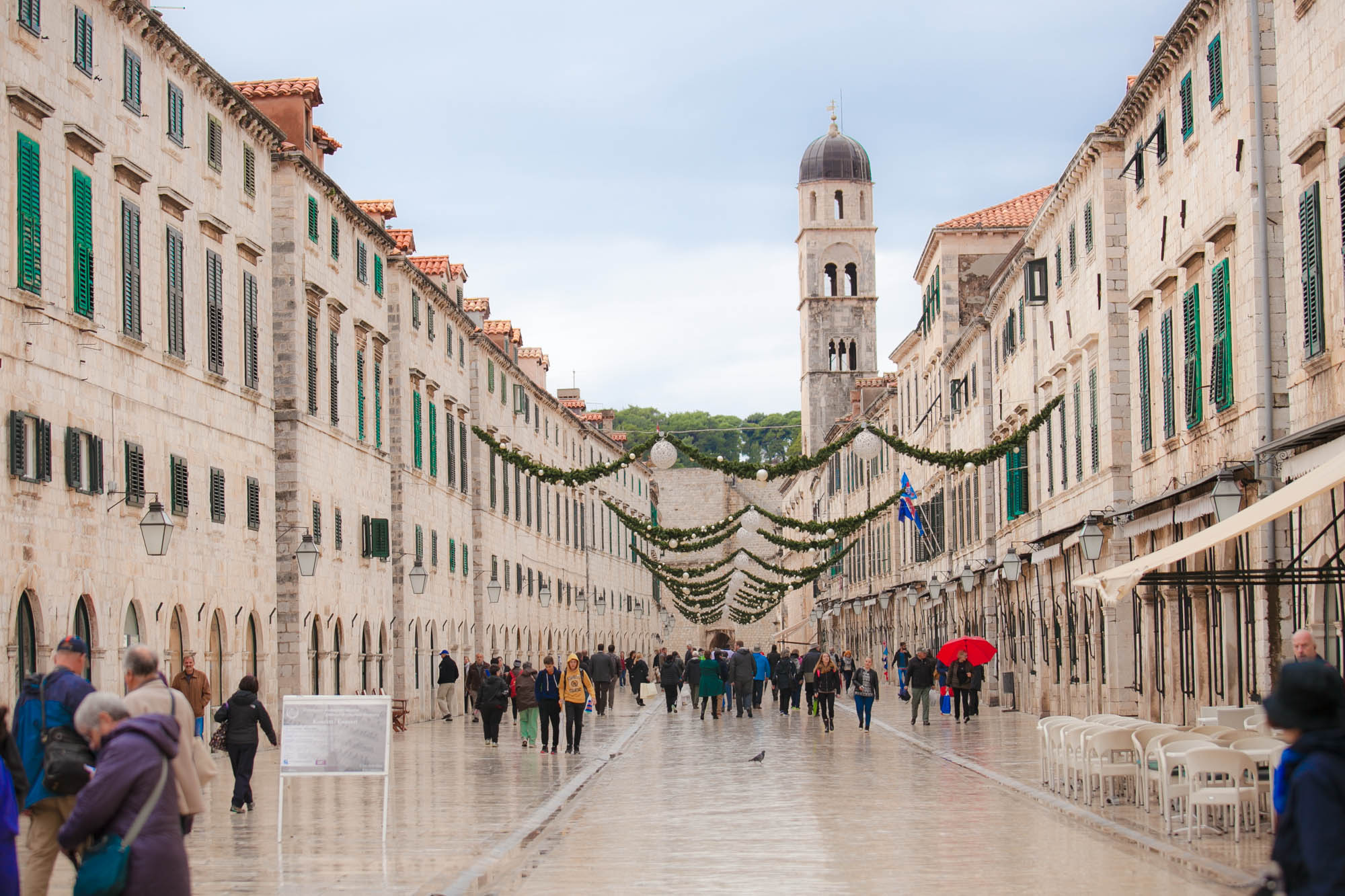 Old Dubrovnik main thoroughfare