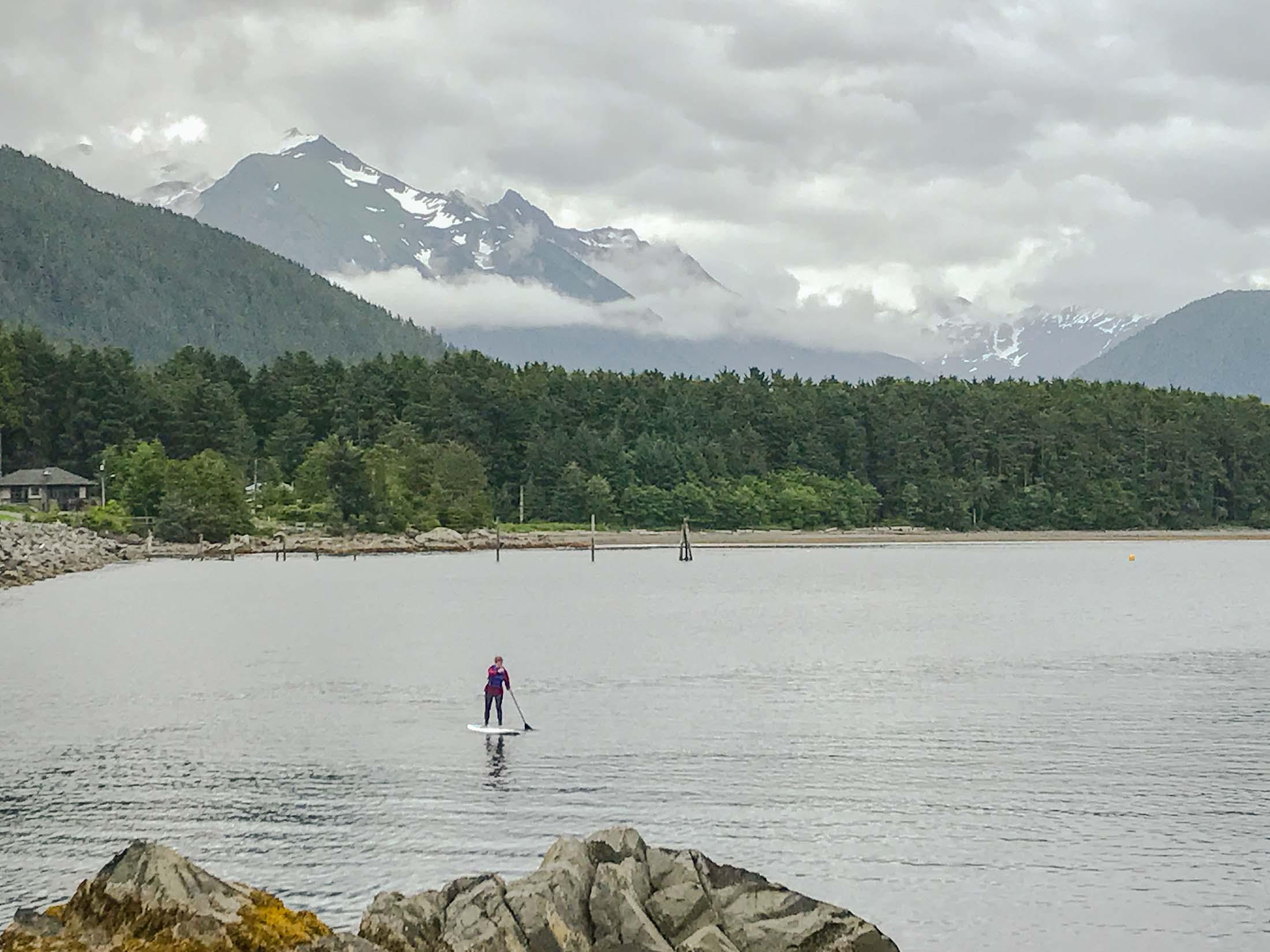 Paddleboarding in Sitka