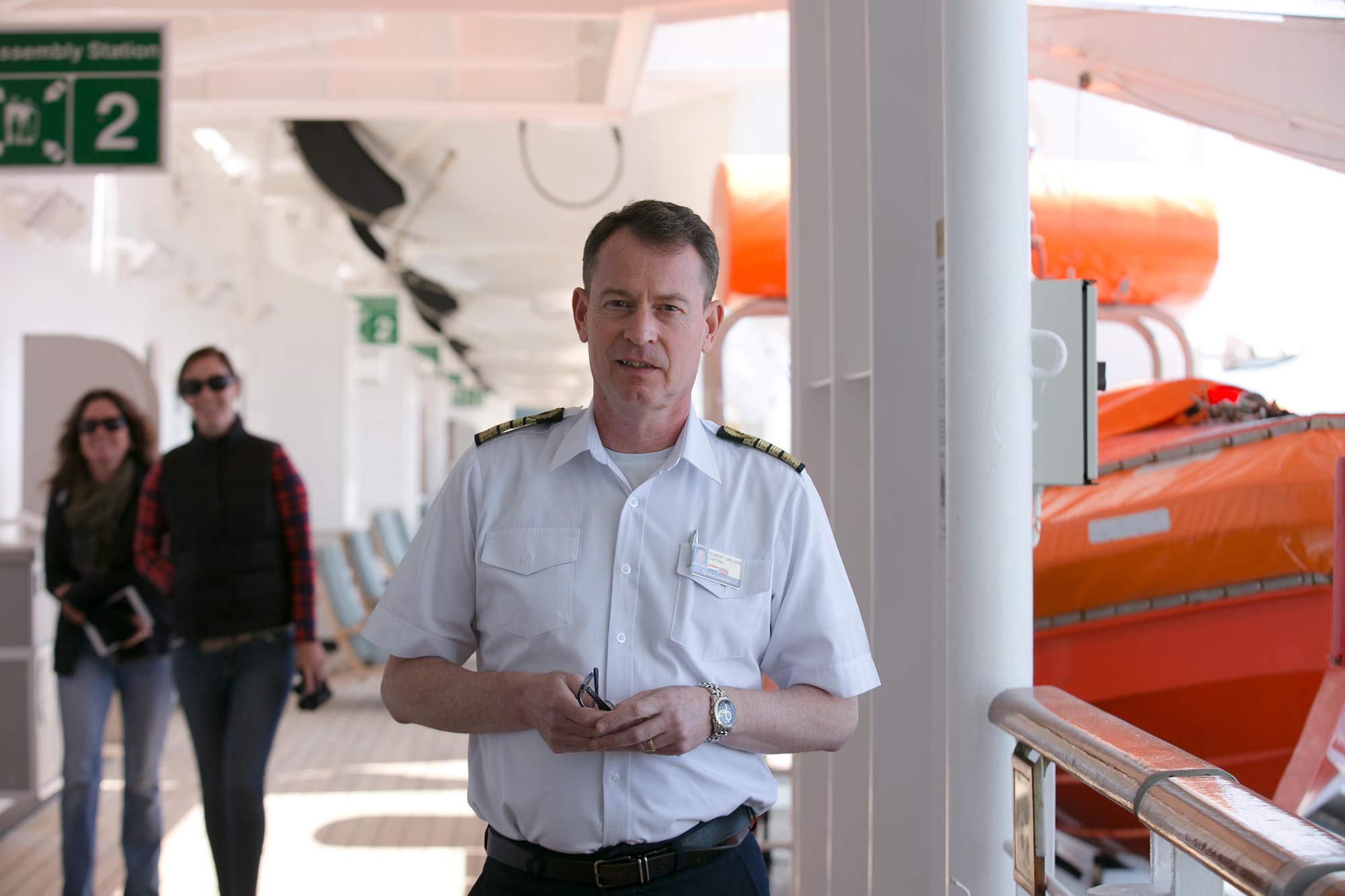 Robert Jan Kan, captain of Oosterdam