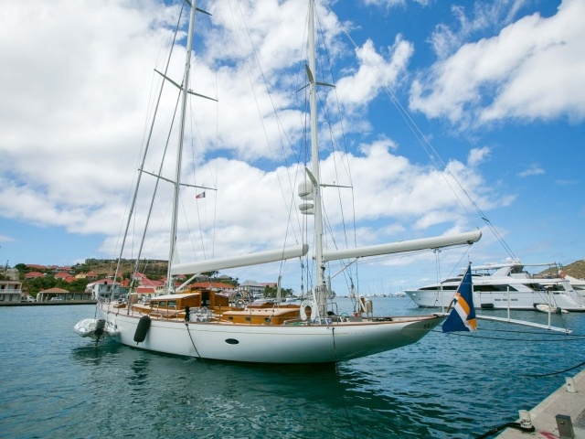 Ship in Gustavia Harbour, St. Barts