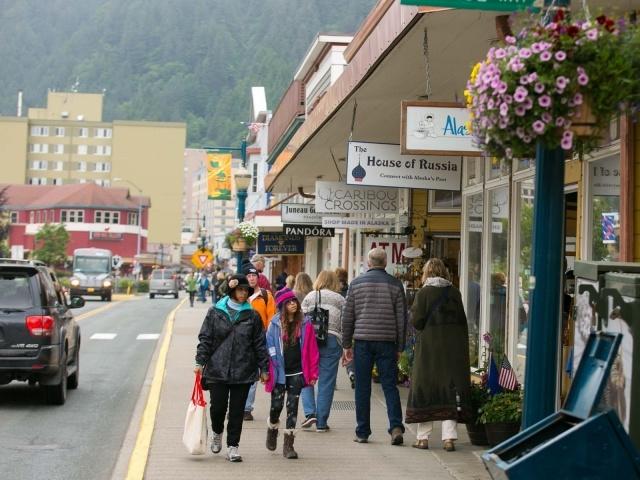 Shops in downtown Juneau