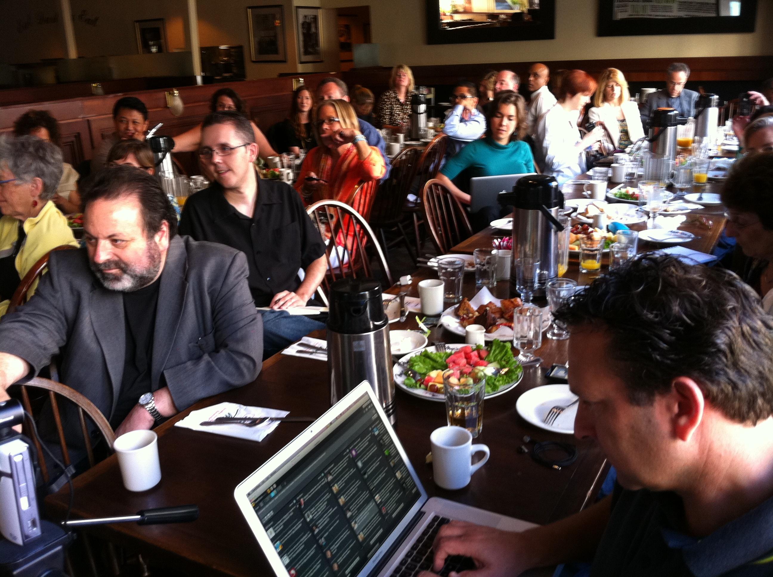 Social Media Breakfast attendees