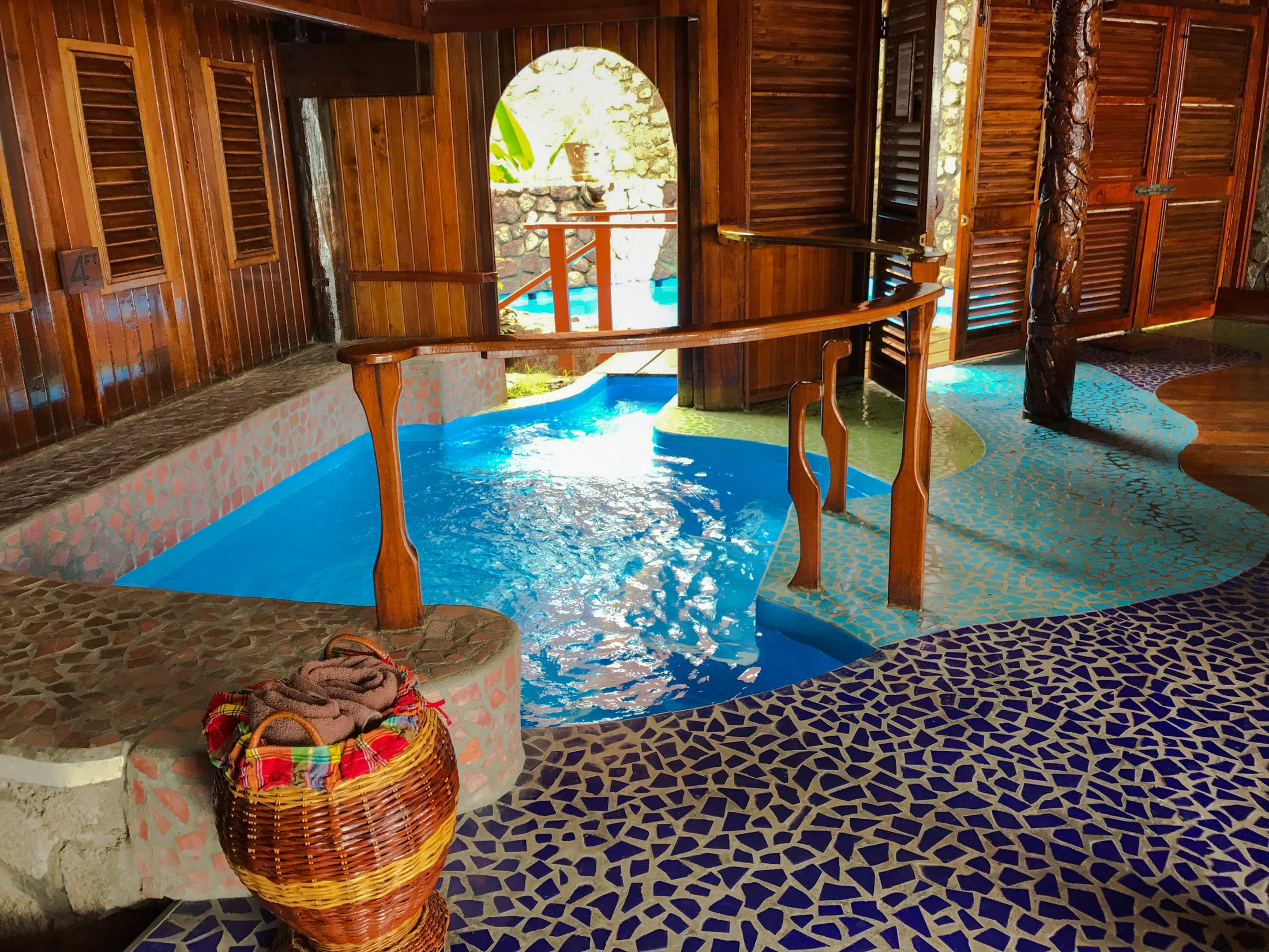 Ladera Resort suite with indoor pool