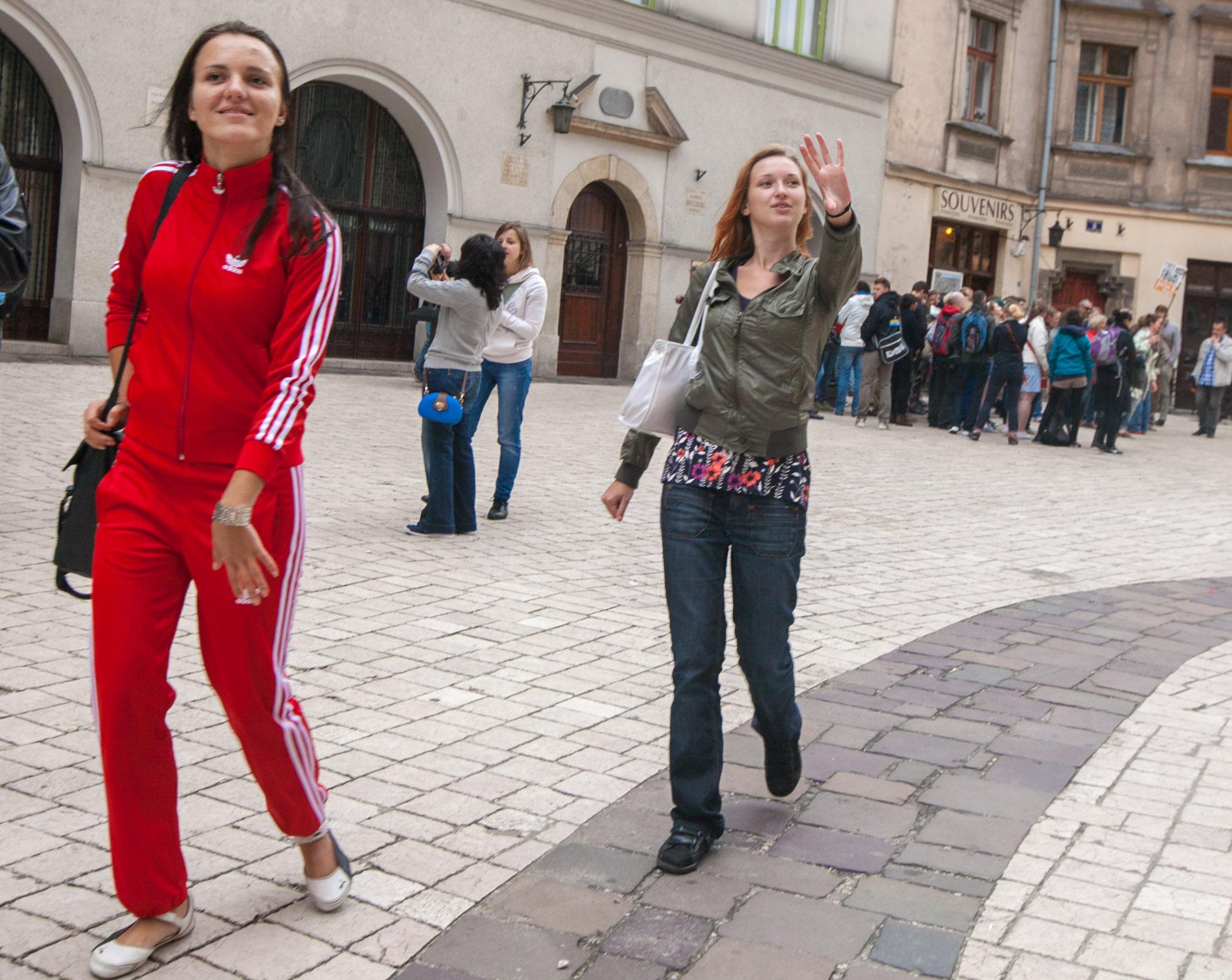 Visitors at Krakow Main Square