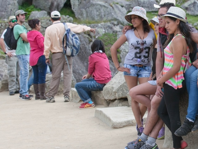 Visitors to Machu Picchu