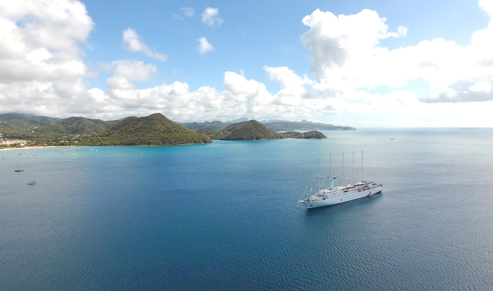 Wind Surf in Rodney Bay, St. Lucia (drone image)