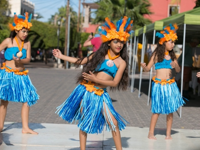 Young dancers perform