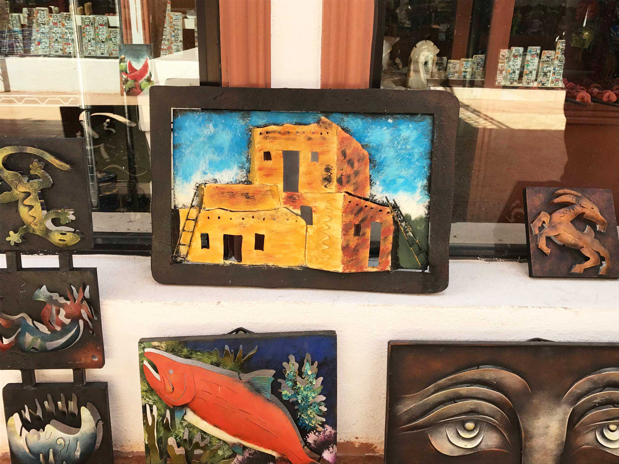Art at a local shop in Loreto